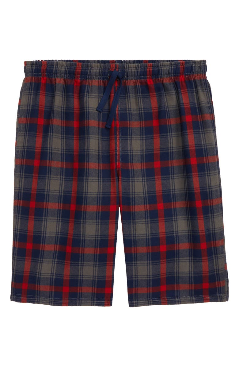 TUCKER + TATE Flannel Shorts, Main, color, GREY CASTLEROCK FELICE PLAID