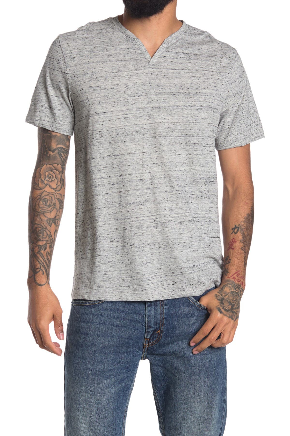 Image of Abound Short Sleeve Textured Notch Neck Tee