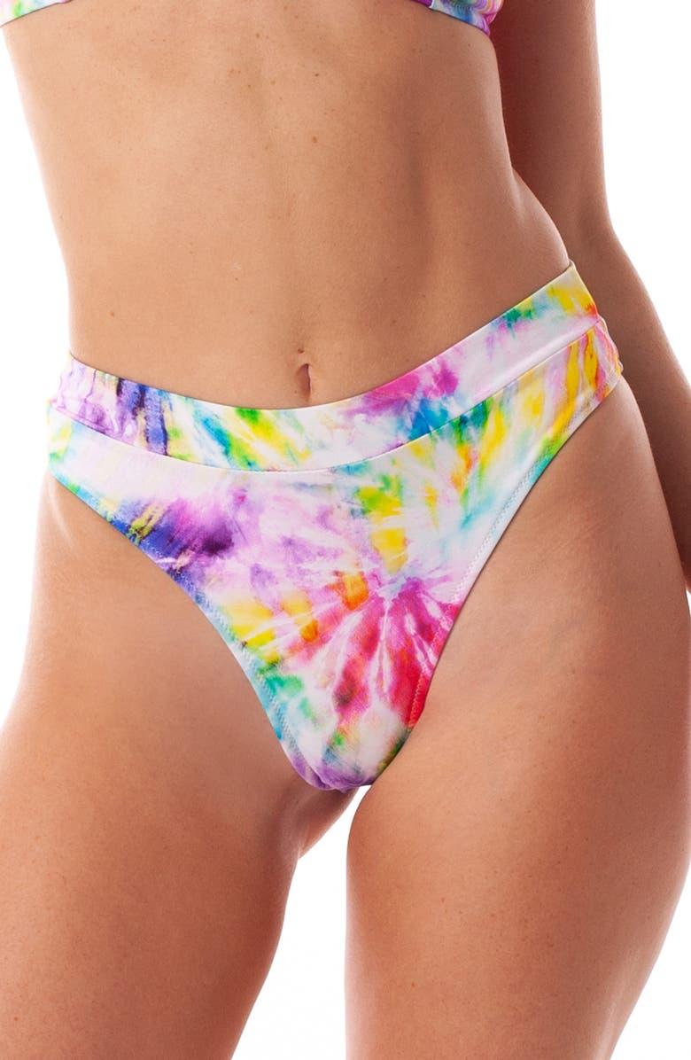 RHYTHM Kaleidoscope Xanadu High Cut Bikini Bottoms, Main, color, RAINBOW