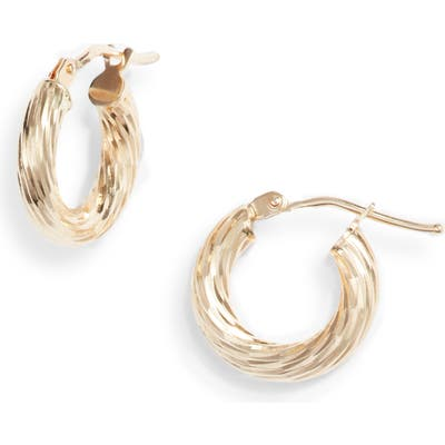 Bony Levy 14K Gold Small Twisted Rope Hoop Earrings (Nordstrom Exclusive)