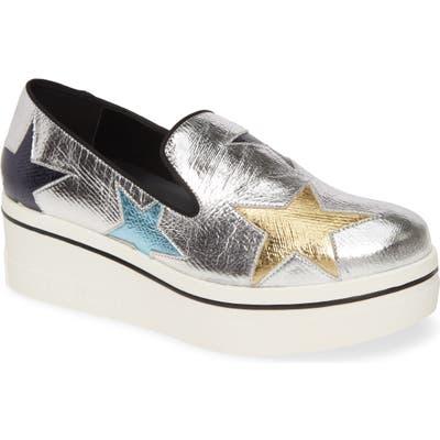 Stella Mccartney Binx Logo Platform Slip-On Sneaker