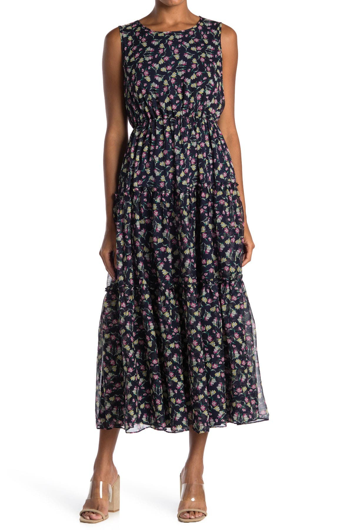 Image of MELLODAY Floral Tiered Maxi Dress