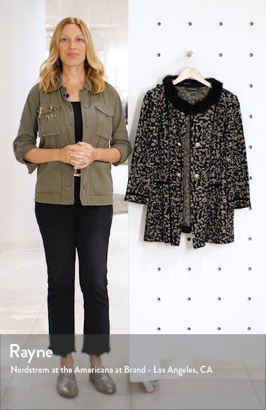Faux Fur Trim Jacket, sales video thumbnail