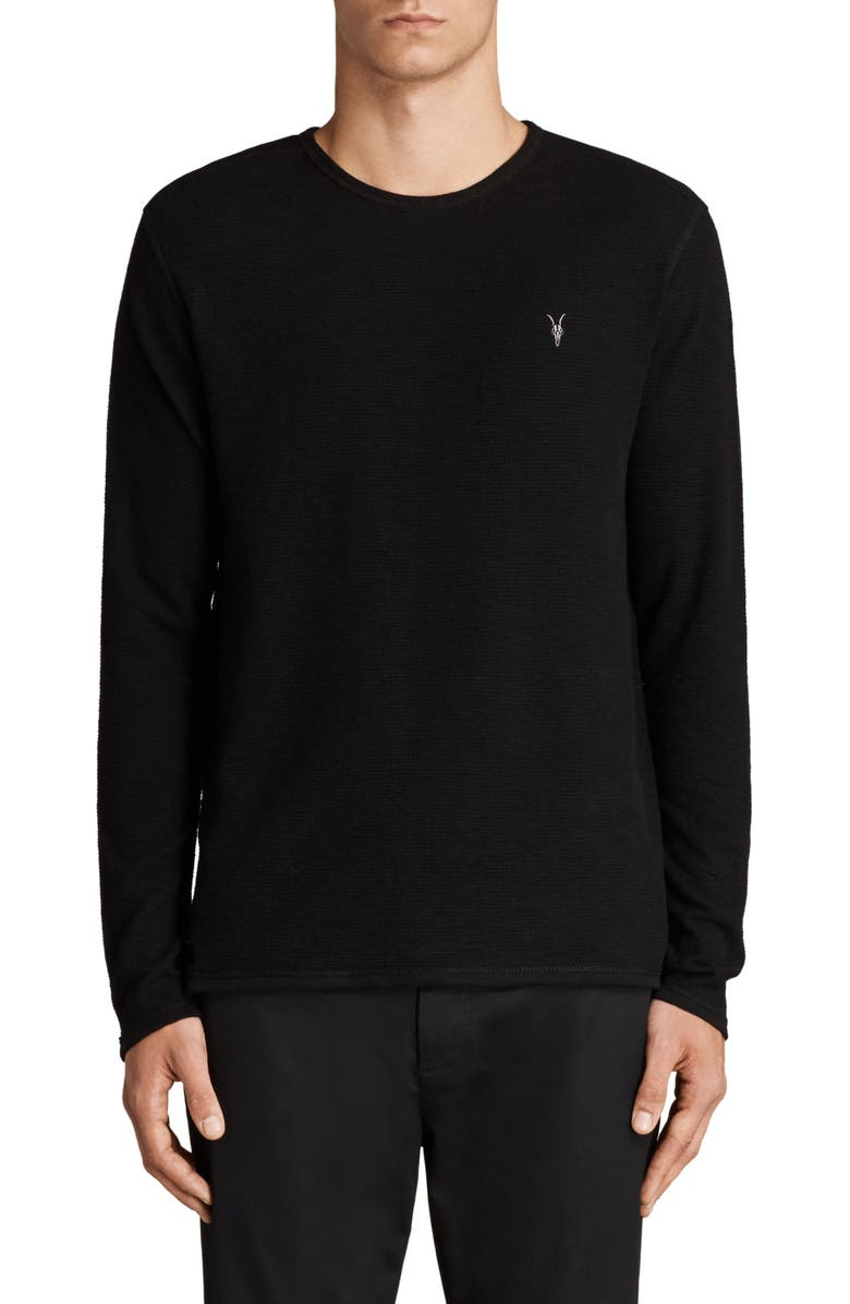 ALLSAINTS Clash Slim Fit Crewneck Thermal T-Shirt, Main, color, 003