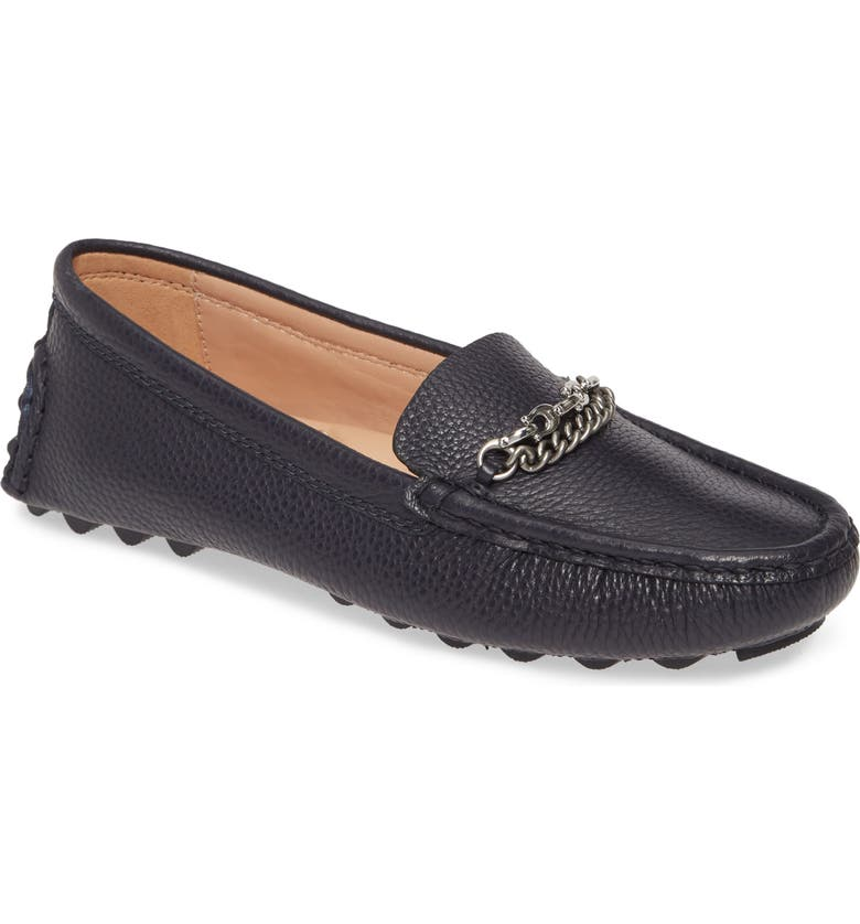 COACH Crosby Driver Loafer, Main, color, INK PEBBLED LEATHER