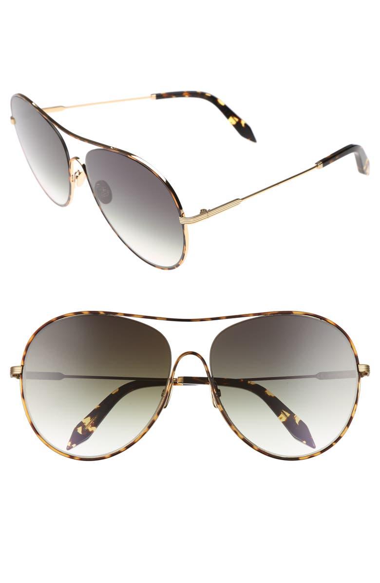 VICTORIA BECKHAM Loop 63mm Oversize Round Sunglasses, Main, color, AURORA