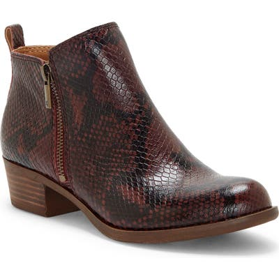 Lucky Brand Basel Bootie- Red