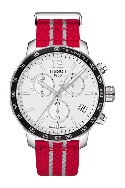 Image of Tissot Men's Quickster Chronograph NBA Houston Rockets Watch, 42mm