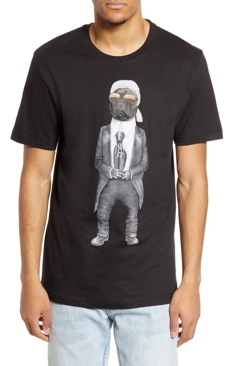 ELEVENPARIS x Pets Rock Carl Graphic Tee, Main, color, BLACK