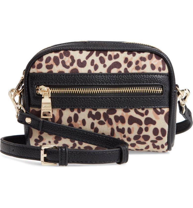 STEVE MADDEN Leopard Print Crossbody Bag, Main, color, 200