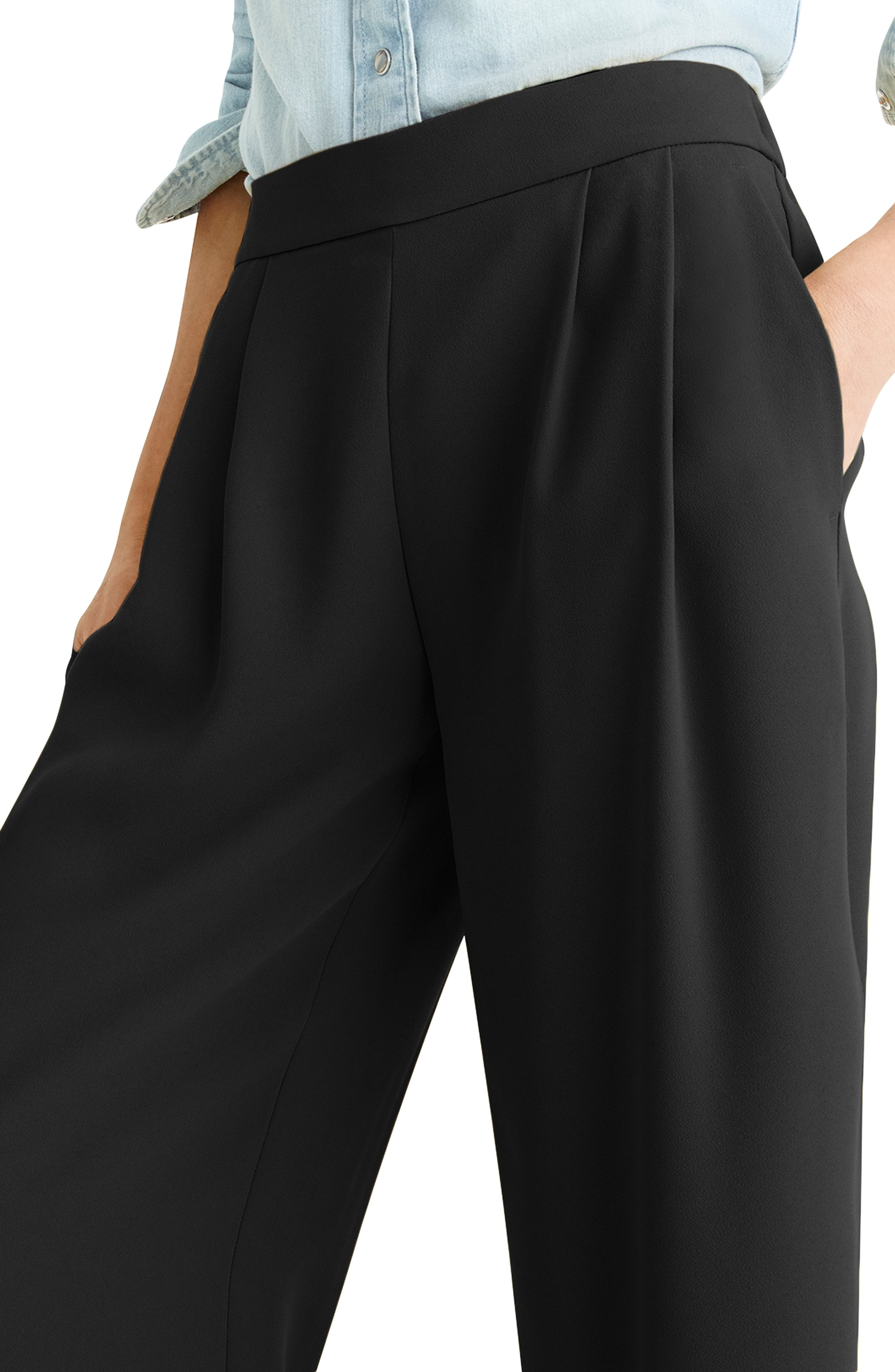 ,                             Wide Leg Crop Pants,                             Alternate thumbnail 2, color,                             001