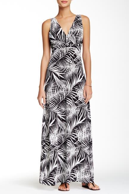 Image of Papillon Surplice Maxi Dress