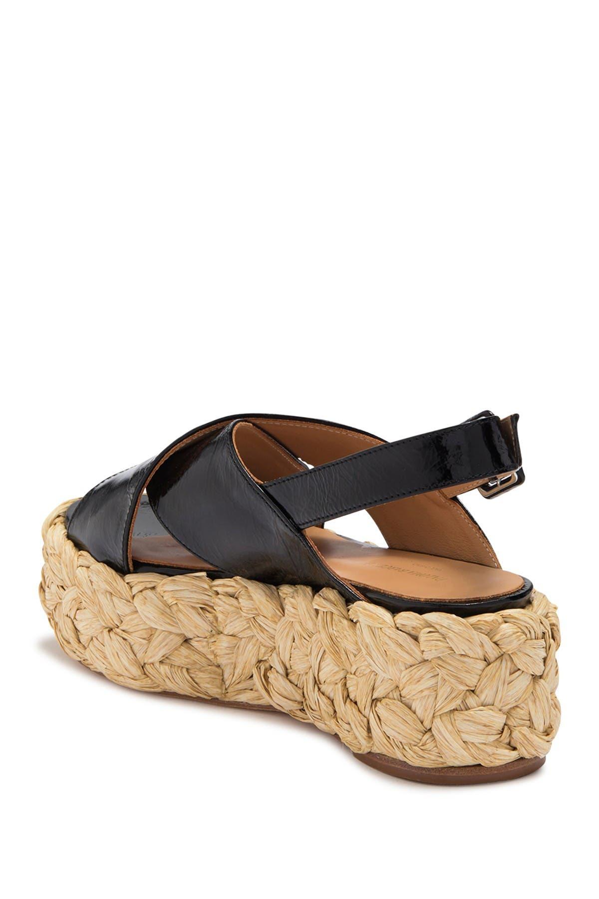 Image of Paloma Barcelo Aria Patent Leather Espadrille Sandal
