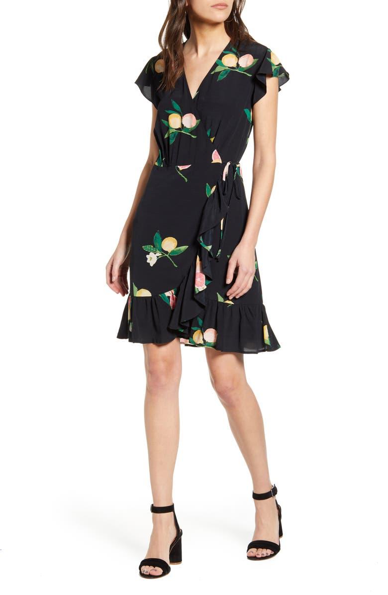RAILS Koreen Short Sleeve Wrap Dress, Main, color, 001