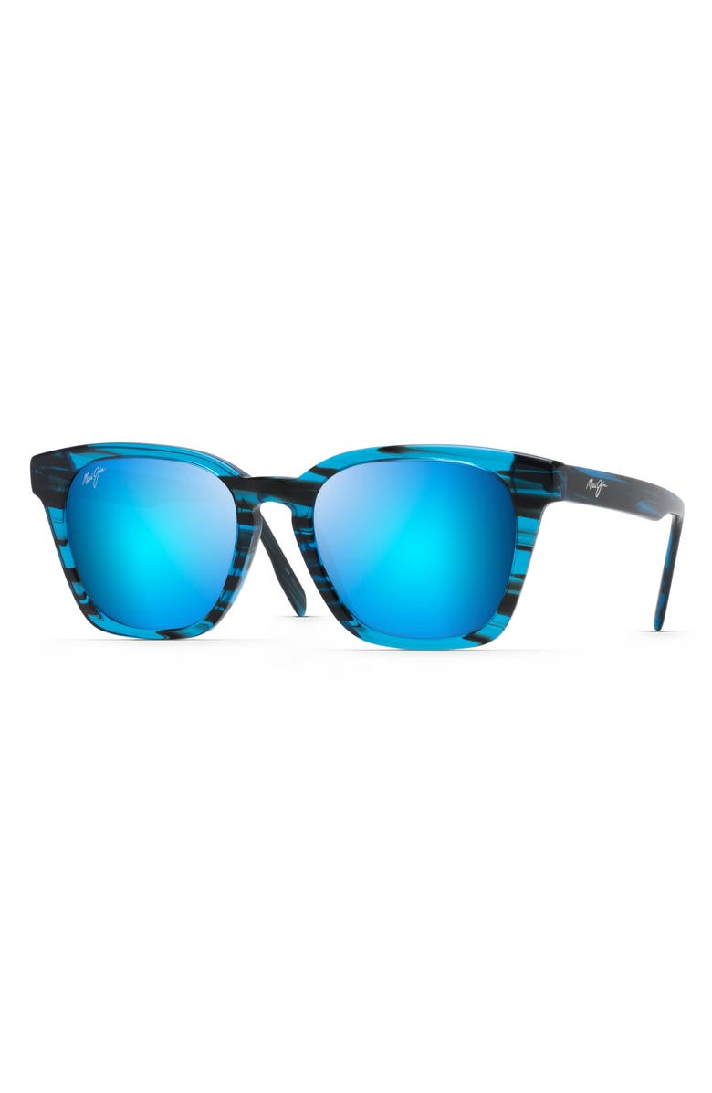 MAUI JIM Shave Ice 52mm Polarized Sunglasses, Main, color, ELECTRIC BLUE