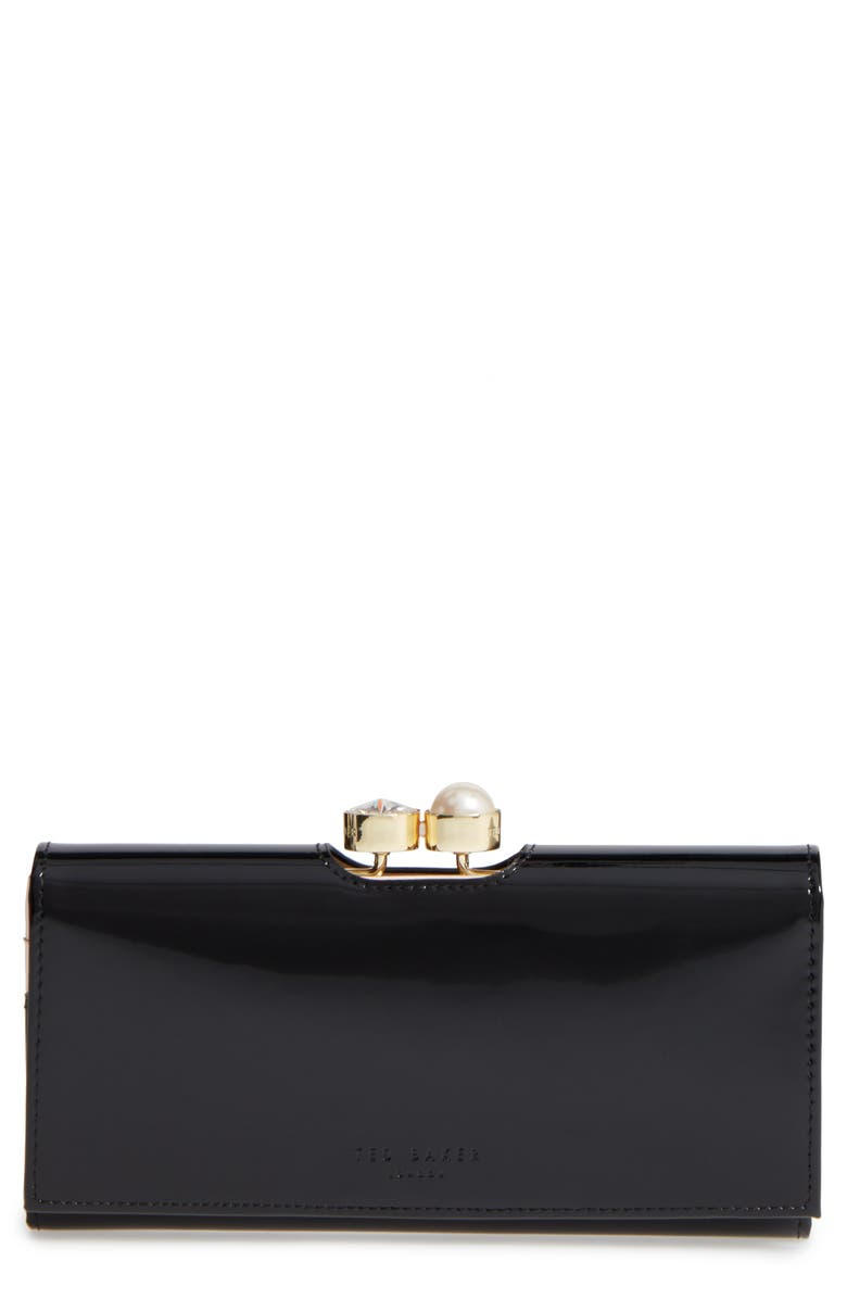 TED BAKER LONDON Leather Matinée Wallet, Main, color, 001