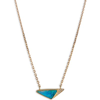 Brooke Gregson Geo Halo Boulder Opal Necklace