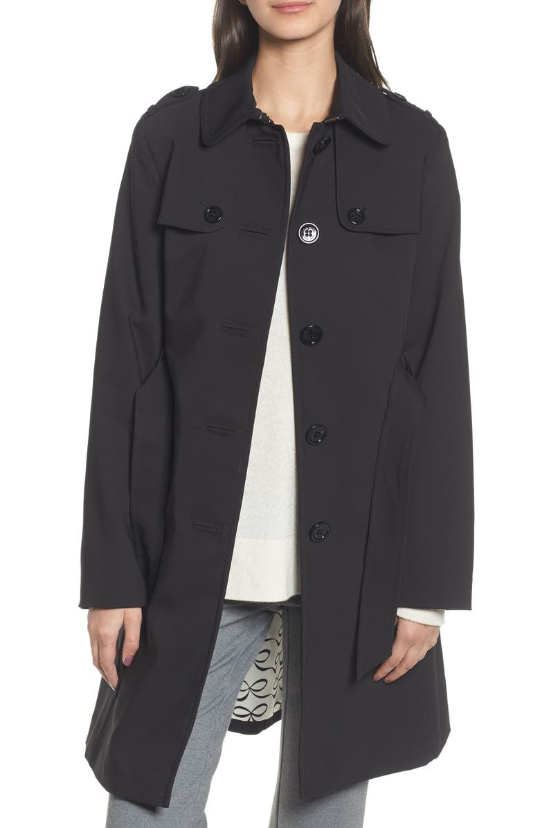 KATE SPADE NEW YORK 3-in-1 trench coat, Main, color, 001