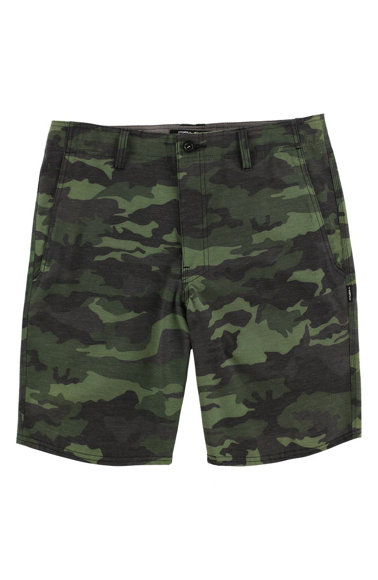 O'NEILL Tropic Garden Hybrid Shorts, Main, color, CAMO