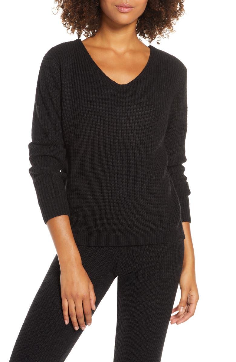 ONZIE Ballet Sweater, Main, color, BLACK