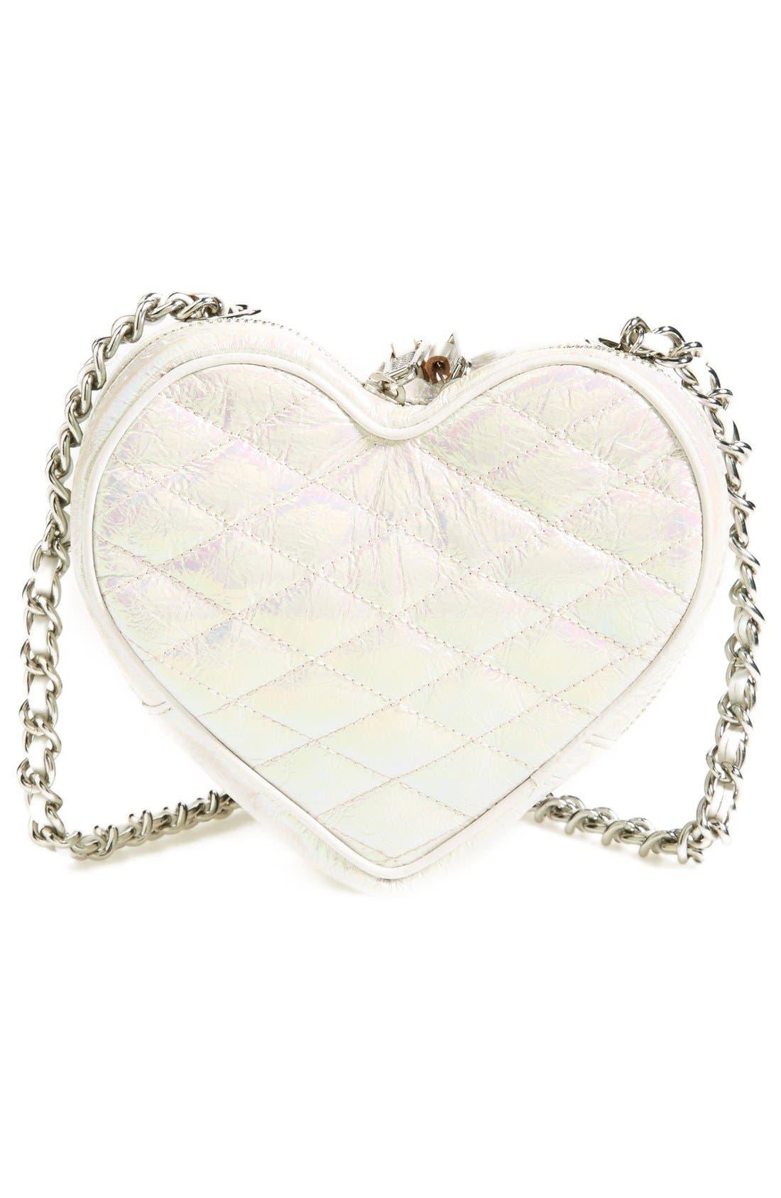 ,                             Heart Crossbody Bag,                             Alternate thumbnail 5, color,                             100