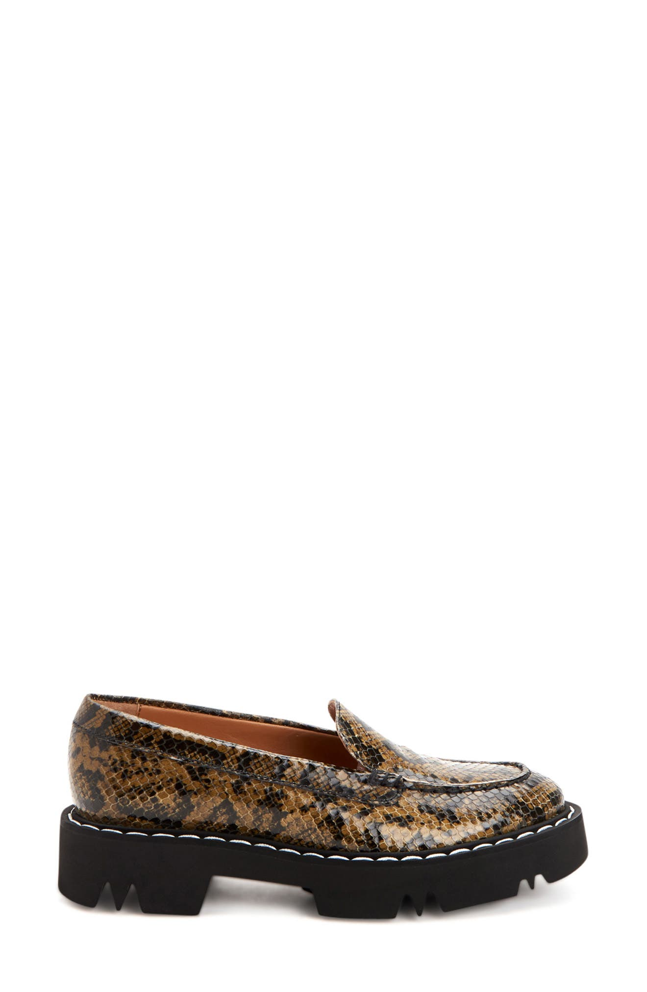 Hayley Snake Embossed Water Resistant Loafer