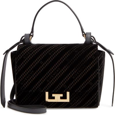 Givenchy Mini Eden Burnout Velvet Top Handle Bag - Black