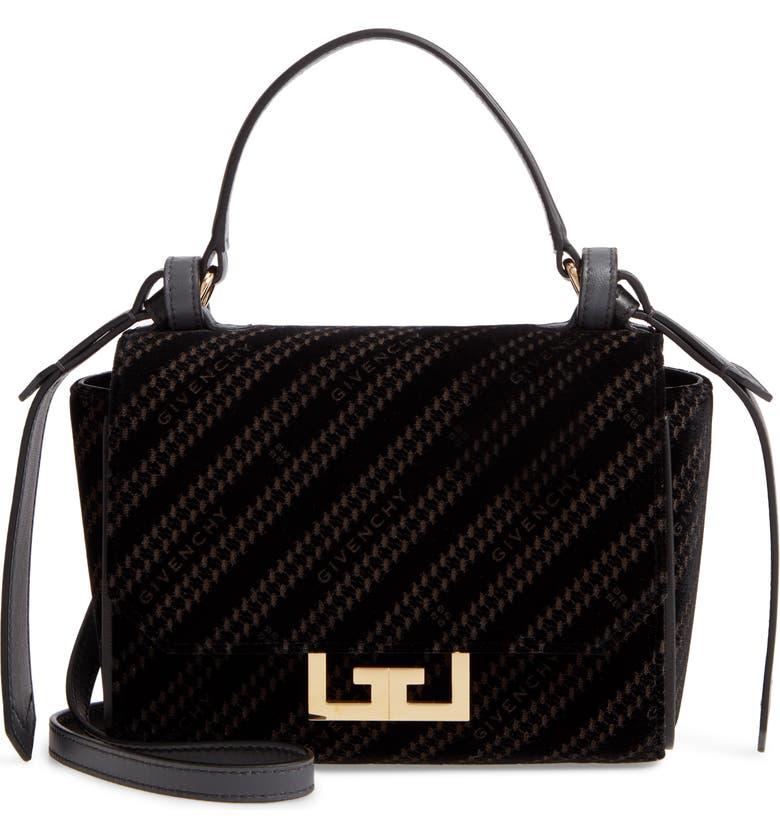 GIVENCHY Mini Eden Burnout Velvet Top Handle Bag, Main, color, BLACK