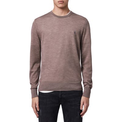 Allsaints Mode Slim Fit Merino Wool Sweater, Beige