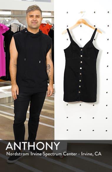 Button Front Denim Body-Con Dress, sales video thumbnail
