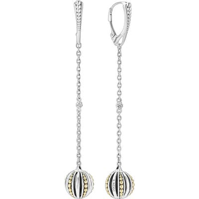 Lagos Caviar Talisman Ball Drop Earrings