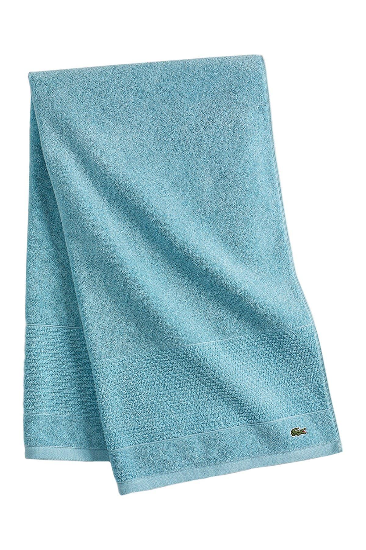 "Image of Lacoste Celestial Blue Legend Supima Cotton Bath Towel - 30"" x 54"""