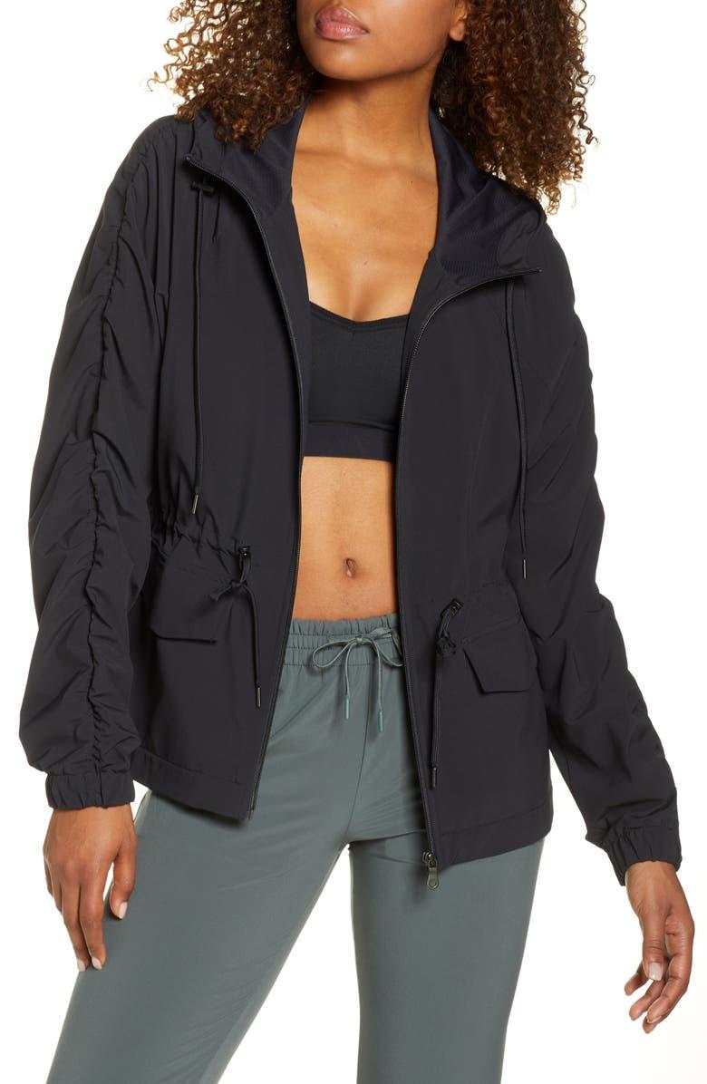 ZELLA Getaway Packable Jacket, Main, color, BLACK