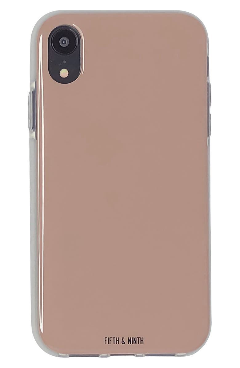 FIFTH & NINTH Taupless iPhone XR Case, Main, color, TAUPE
