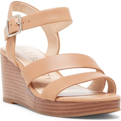 Sole Society Charvi Platform Wedge Sandal- Brown