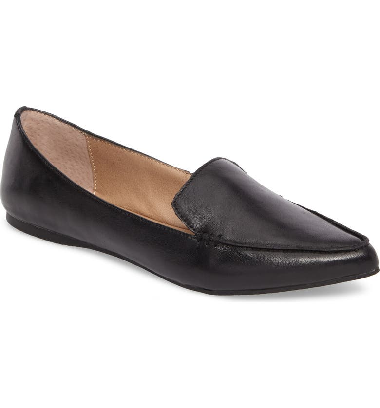 STEVE MADDEN Feather Loafer, Main, color, BLACK LEATHER