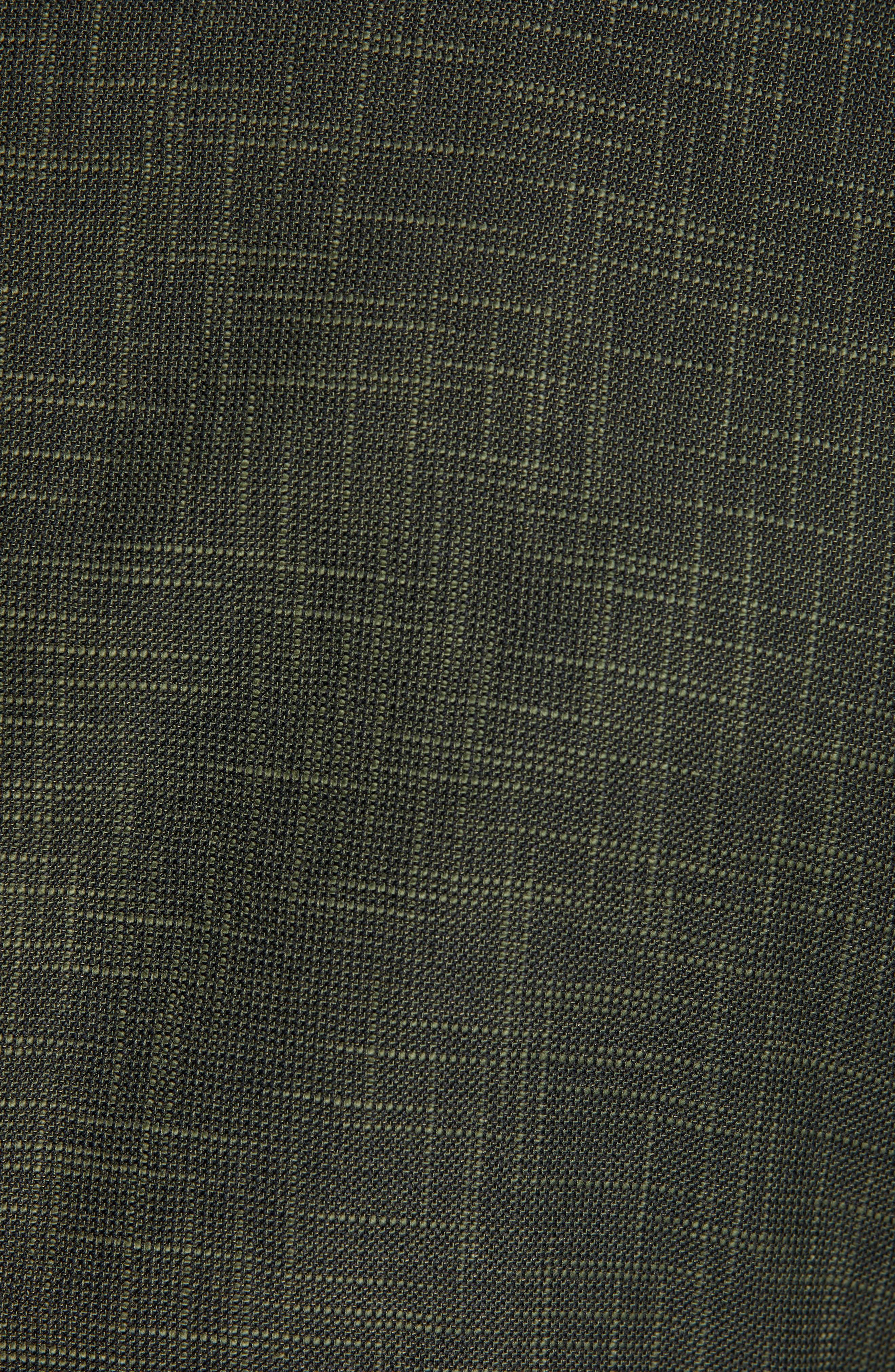 ,                             Trim Fit Cotton Blend Sport Coat,                             Alternate thumbnail 6, color,                             DARK GREEN