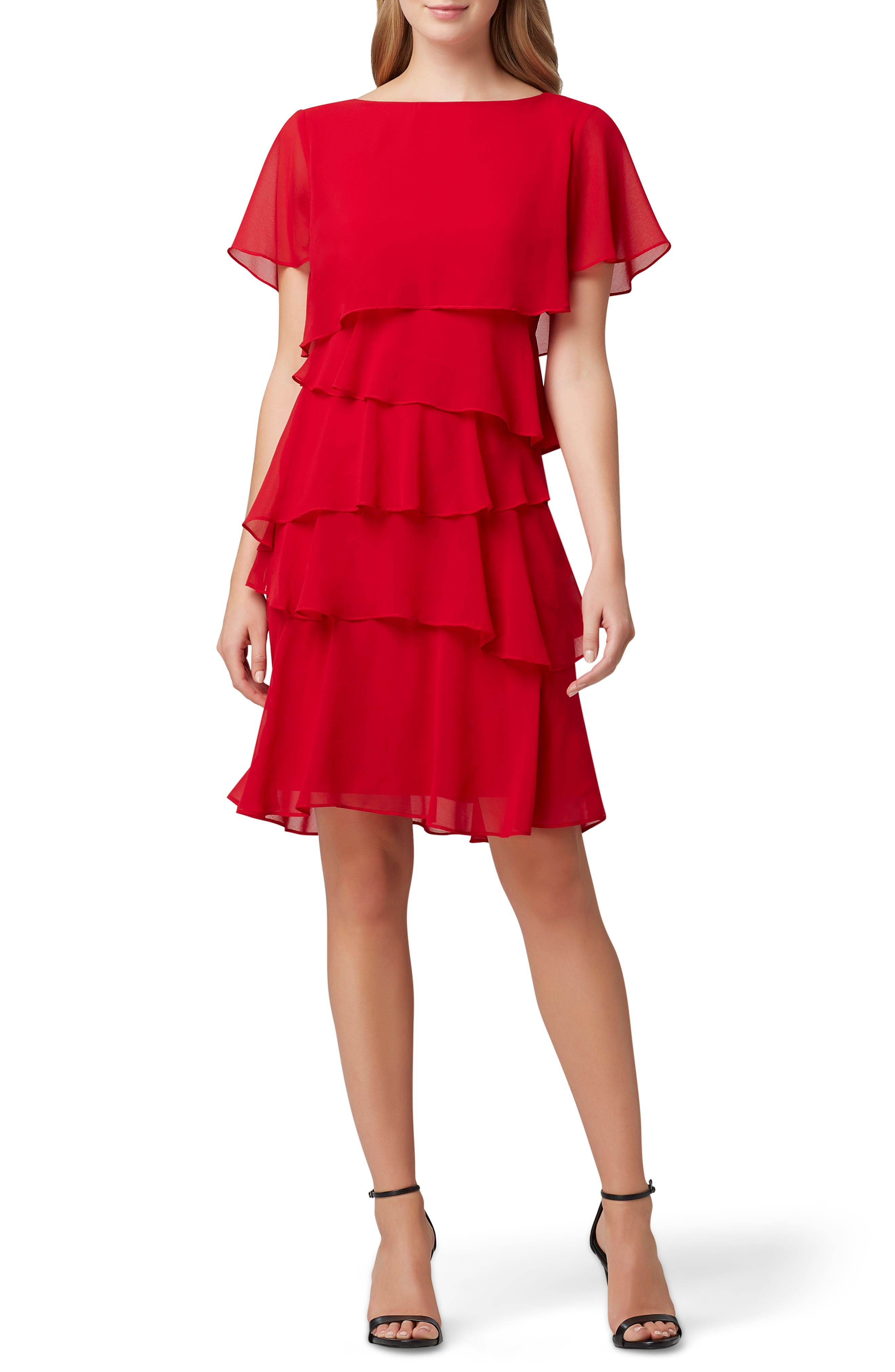 Vintage 1920s Dresses – Where to Buy Womens Tahari Tiered Chiffon Dress $138.00 AT vintagedancer.com