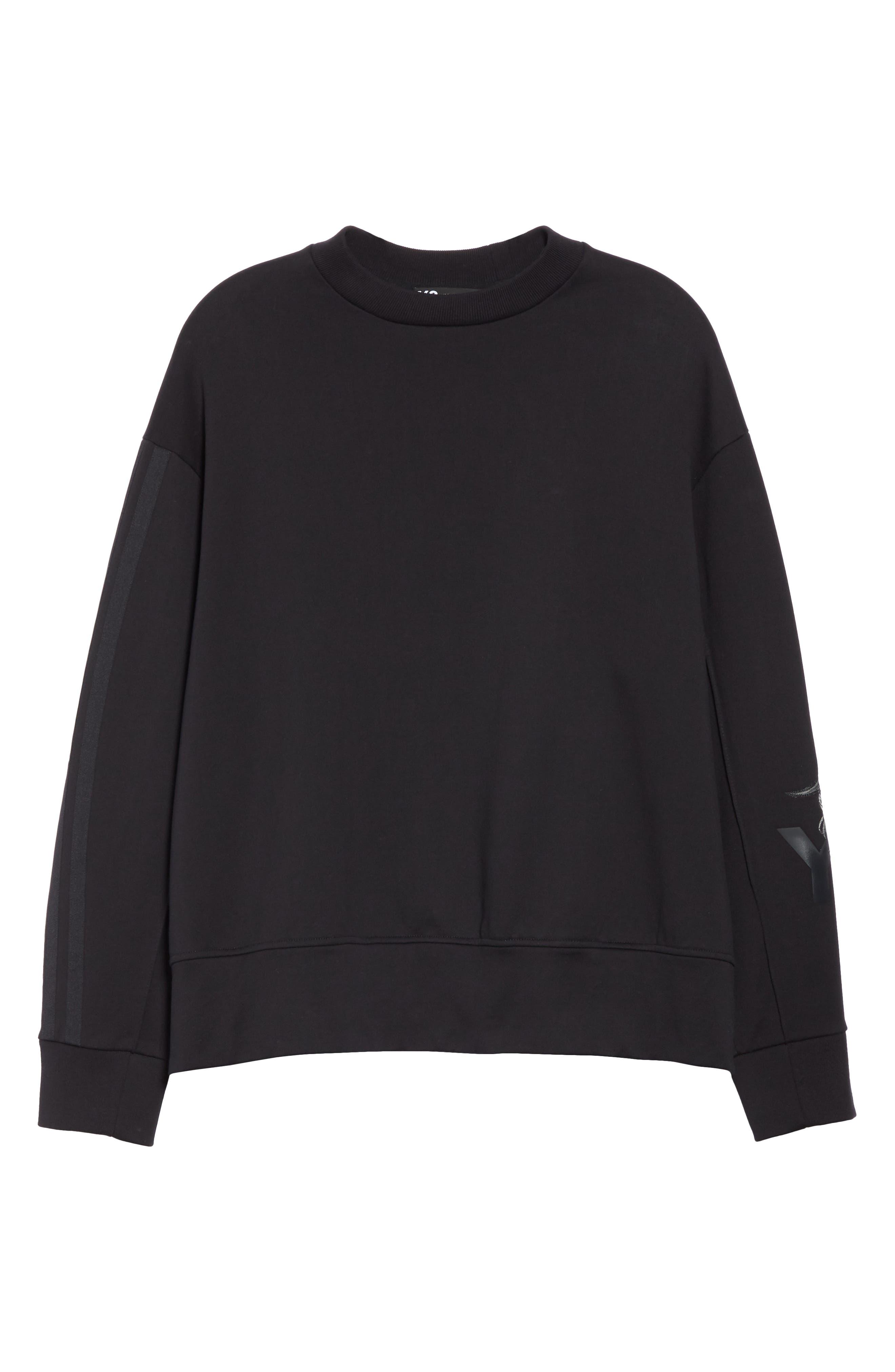 ,                             x adidas Skull Crewneck Sweatshirt,                             Alternate thumbnail 6, color,                             BLACK