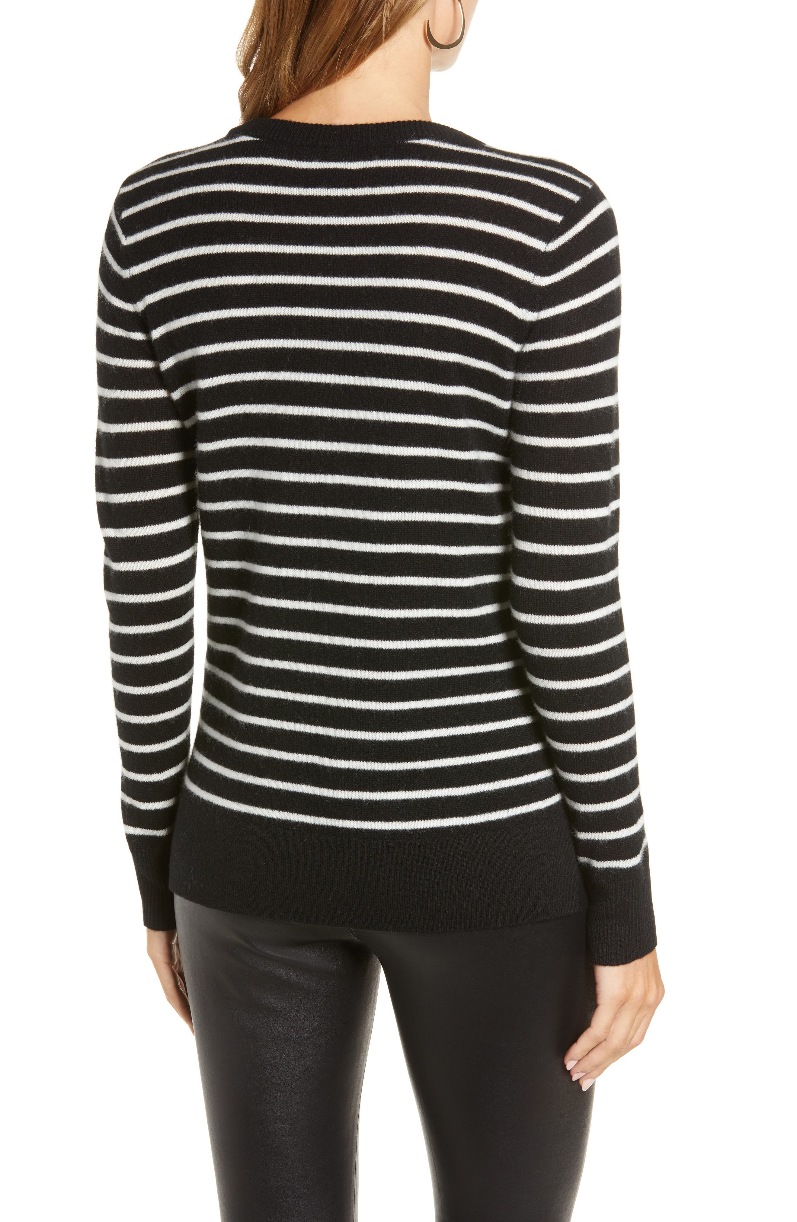 ,                             Crewneck Cashmere Sweater,                             Alternate thumbnail 2, color,                             002
