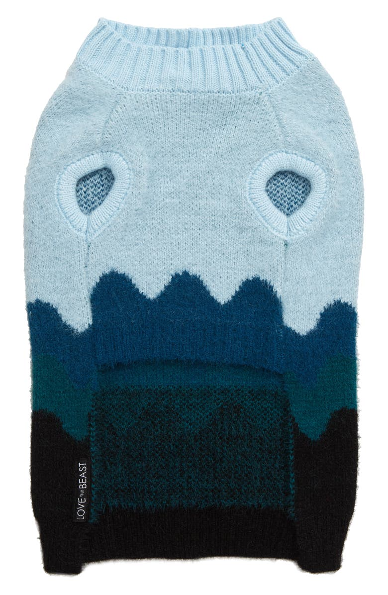 LOVETHYBEAST Wave Dog Sweater, Main, color, BLUE