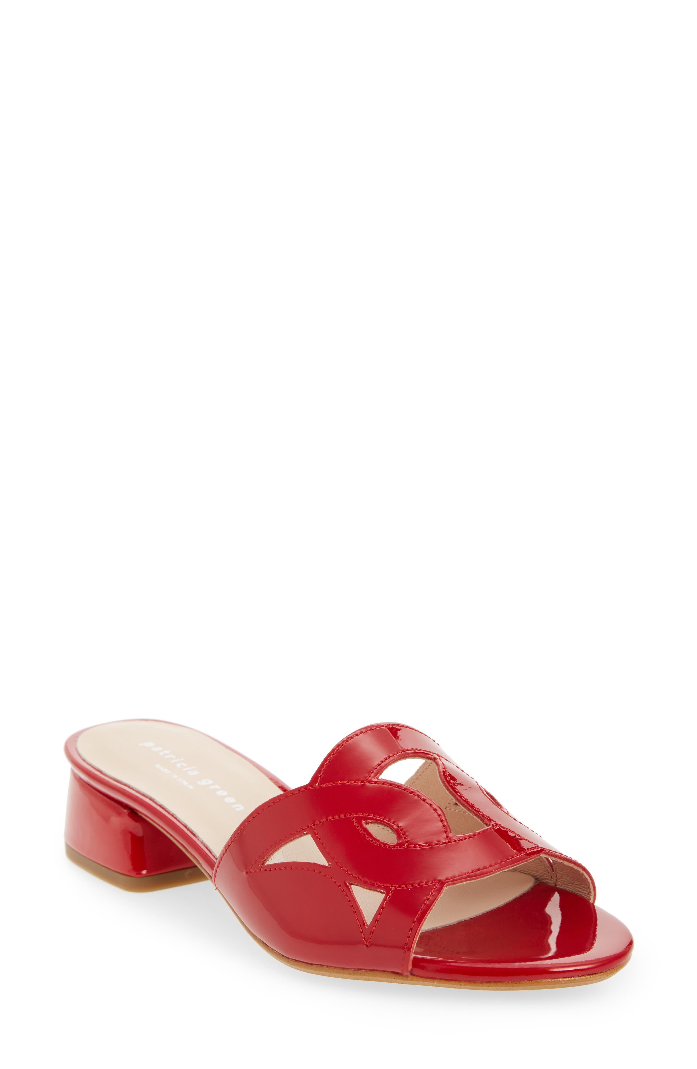 Patricia Green Boca Slide Sandal- Red