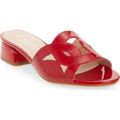 Patricia Green Boca Slide Sandal- Red