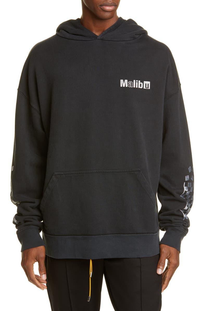 RHUDE Malibu Logo Hoodie, Main, color, BLACK