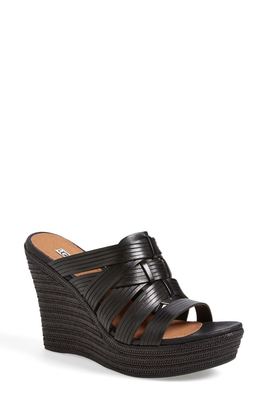 'Melinda' Platform Wedge Sandal, Main, color, 001