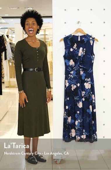 Floral Twist Front Sleeveless Midi Dress, sales video thumbnail