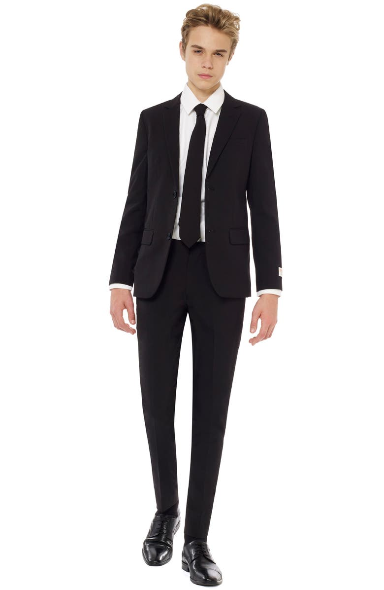 OPPOSUITS Black Knight Two-Piece Suit with Tie, Main, color, BLACK