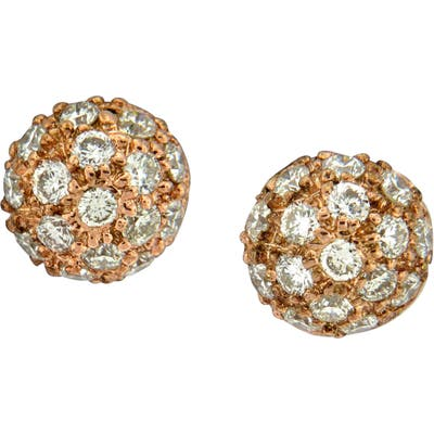Sethi Couture Diamond Pave Ball Stud Earrings
