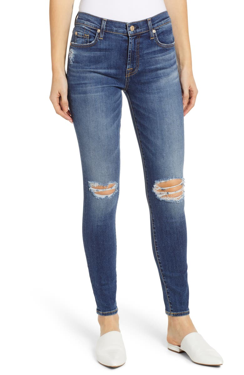 0b9f658cddaf0 7 For All Mankind® b(air) Ankle Skinny Jeans   Nordstrom