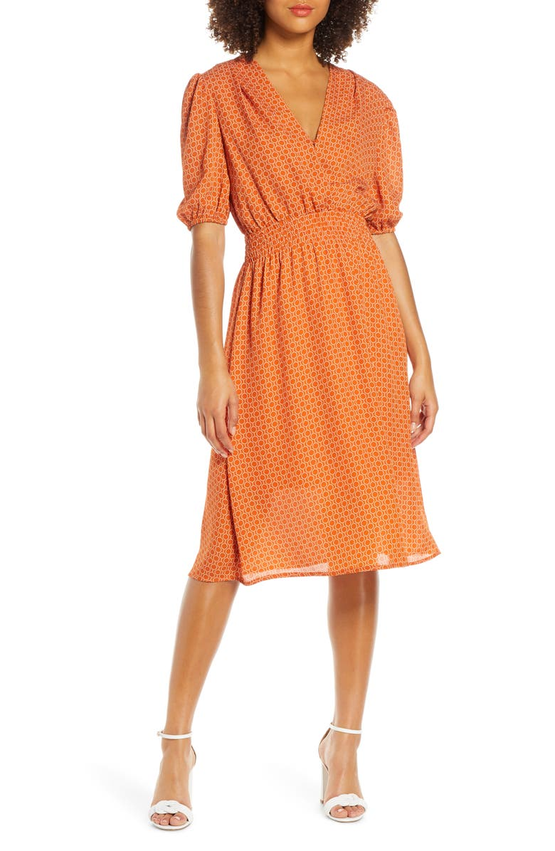 Fraiche By J Smocked Waist Midi Dress